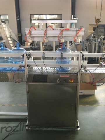 Автомат для обнаружения негерметичных пустых 19 литровых бутылей модель LSN-LT2-300